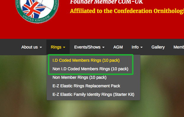 Members ring location on main navigation